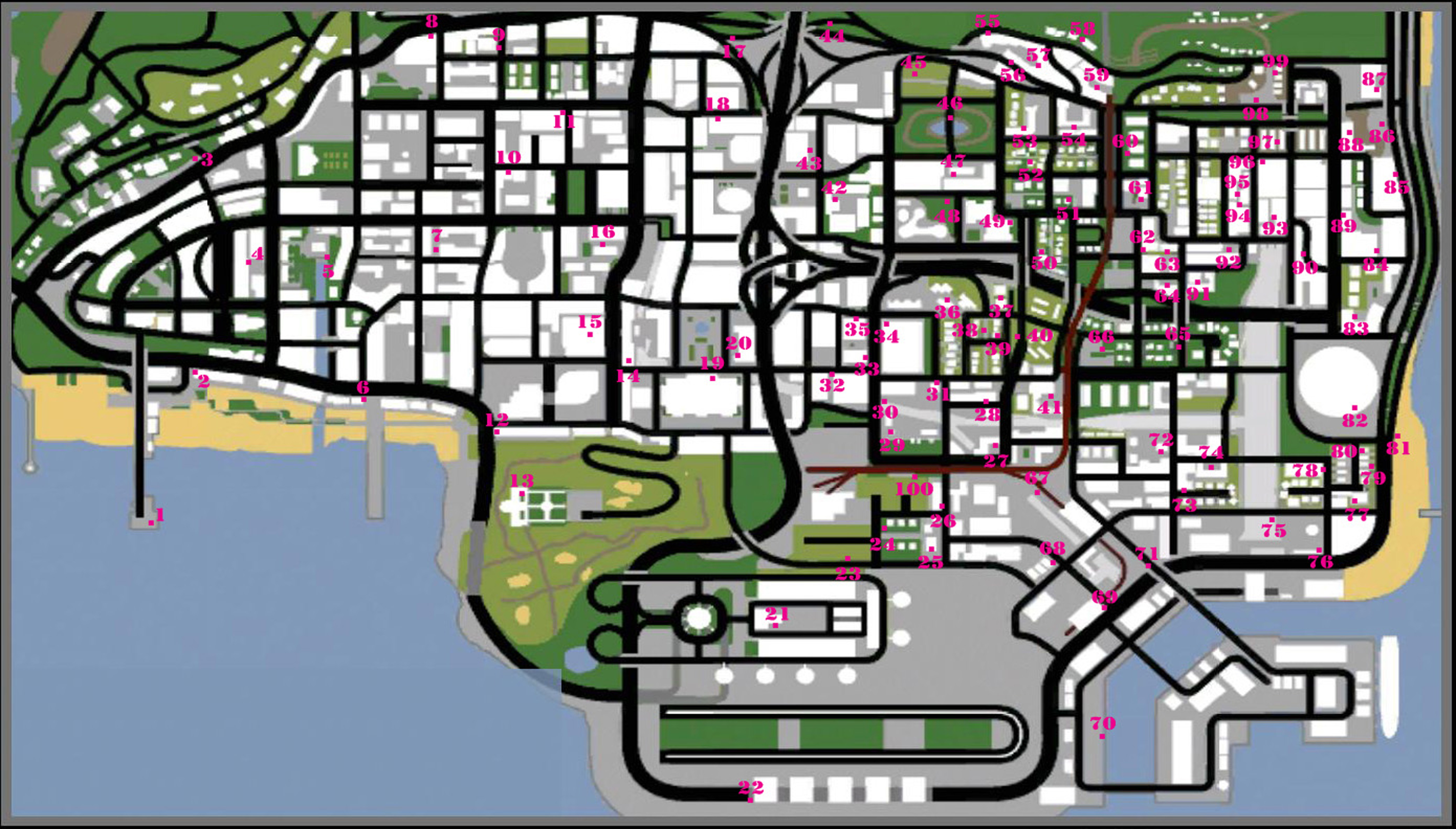 Grand theft auto san andreas tags location guide