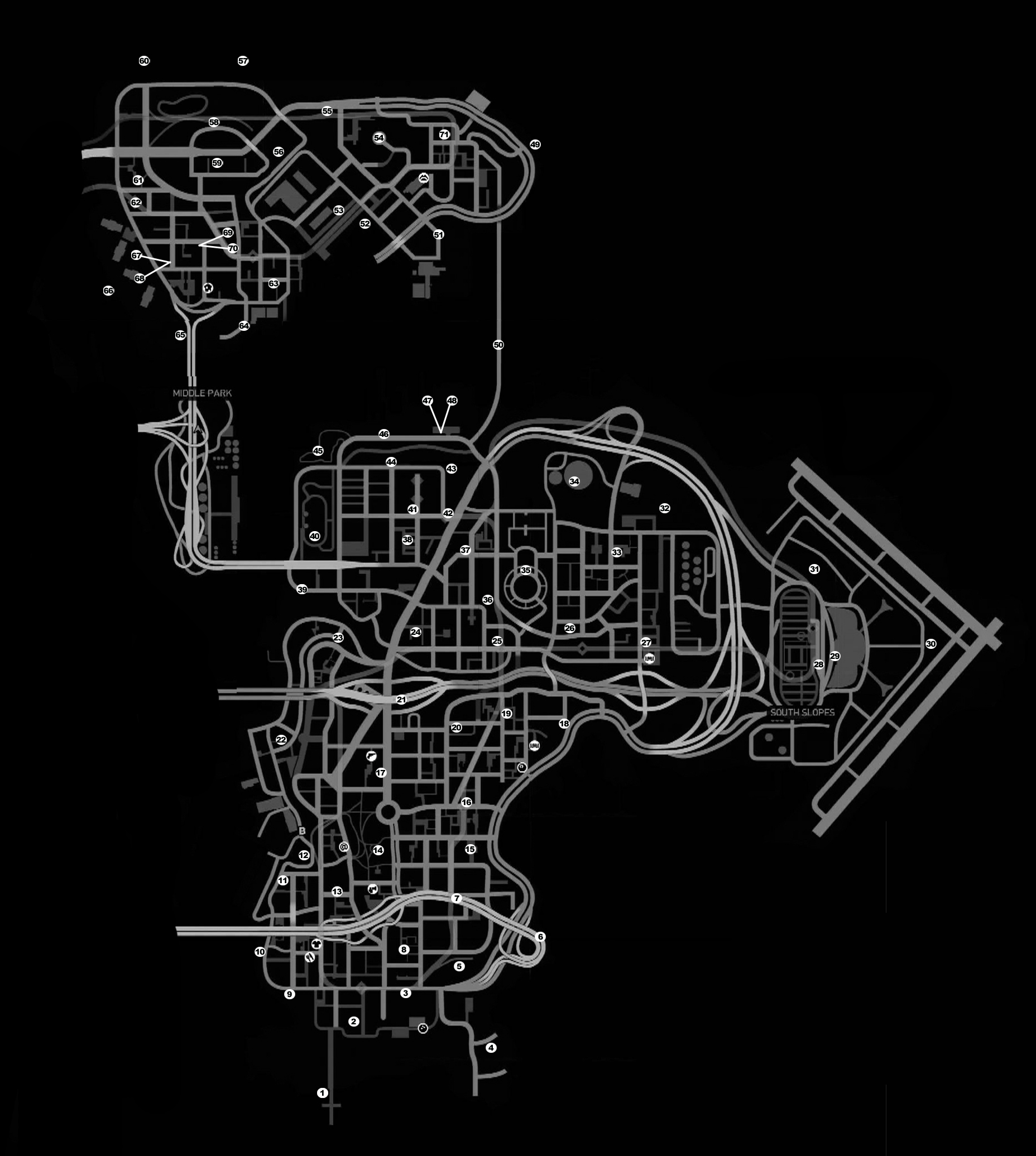 Gta 4 Weapons Map First Colony Mall Map